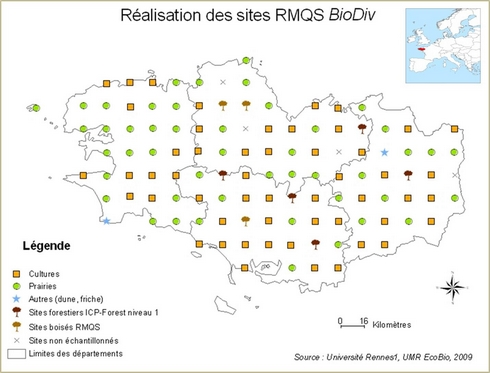 Sites RMQS BioDiv